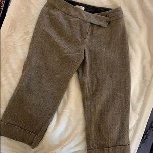 Cropped tweed Ann Taylor pants